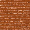Rome In Words Toffee by Sabine Jacobs