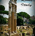 Rome Italy Poster by John Malone