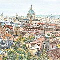 Rome Overview From The Borghese Gardens by Anthony Butera