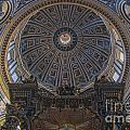 Rome Saint Peters Basilica Interior 01 by Antony McAulay