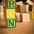 Ron - Alphabet Blocks by Edward Fielding