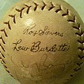 Ron Sievers And Lew Burdette Autograph Baseball by Lois Ivancin Tavaf