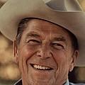 Ronald Reagan In 1976 At His Home At Rancho Del Cielo by Movie Poster Prints