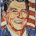 Ronald Wilson Reagan Mosaic by LeeAnn McLaneGoetz McLaneGoetzStudioLLCcom