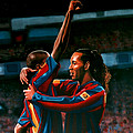 Ronaldinho And Eto'o by Paul Meijering
