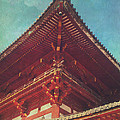 Roof Detail Of Todai-ji Temple Central Gate In Nara Japan by Beverly Claire Kaiya