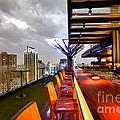 Rooftop Bar Above Eleven In Bangkok by Fototrav Print