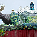 Rooftop Landmark Feature Of Haines Junction-yk by Ruth Hager