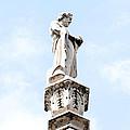 Rooftop Male Statue Duomo Di Milano Italia by Sally Rockefeller