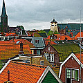 Rooftops From Our Host's Apartment In Enkhuizen-netherlands by Ruth Hager