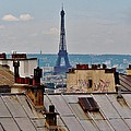Rooftops Of Paris And Eiffel Tower by Marilyn Dunlap