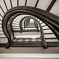 Rookery Building Off Center Oriel Staircase by Anthony Doudt