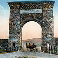 Roosevelt Arch Yellowstone Np by NPS Photo Frank J Haynes