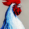 Rooster Head by Mona Edulesco