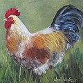 Rooster Of Color by Cheri Wollenberg