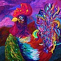 Rooster On The Horizon by Eloise Schneider Mote