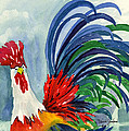 Rooster With Attitude by Diana Sanford