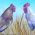 Roosters by Judy Bruning