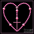 Rosary With Pink And Purple Beads by Rose Santuci-Sofranko