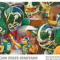 Rose Bowl Collage by John Farr