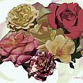 Rose Collage by Susan  Lipschutz