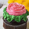 Rose Cupcake by Garry Gay