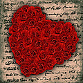 Rose Heart And Letter by Martin Fry
