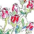 Rose Paintings 7 by Gordon Punt