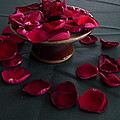 Rose Petals And Pottery by Terry Cobb