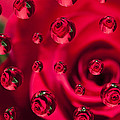 Rose Syrup Abstract 1 A by John Brueske