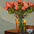 Roses And A Chinese Bowl by Dale Moses