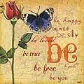 Roses And Butterflies 1 by Debbie DeWitt