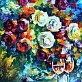 Roses And  by Leonid Afremov