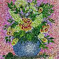 Roses And White Lilacs Lacy Bouquet Digital Painting by Barbara Griffin