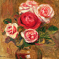 Roses In A Pot by Pierre Auguste Renoir