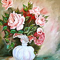 Roses In Vase by Virginia Ann Hemingson