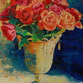 Roses In Wire Vase by Thomas Bertram POOLE