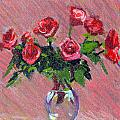Roses On Pink by Candace Lovely