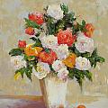 Roses With Apricots by Barrett Edwards