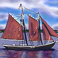 Roseway On Boston Harbor by Jean Pacheco Ravinski