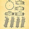 Ross Ice Hockey Puck Patent Art 1940 by Ian Monk