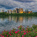 Rosslyn Virginia Sunset From Across The Potomac River by Martin Belan