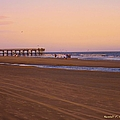Rosy Evening At Isle Of Palms by Kendall Kessler