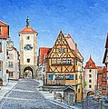 Rothenburg Germany by Mike Rabe