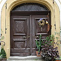 Rothenburg Ob Der Tauber Door  by Christiane Schulze Art And Photography