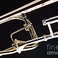 Rotor Tenor Trombone On Black In Color 3464.02 by M K Miller