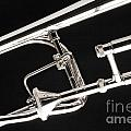 Rotor Tenor Trombone On Black In Sepia 3464.01 by M K Miller