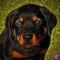 Rottweiler Pop Art 0481 - Bc1 - Yellow by James Ahn