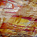 Rough And Red Rock In Petra-jordan  by Ruth Hager