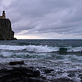 Rough Surf At Split Rock by James Peterson